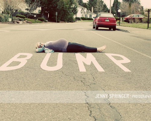 Funny maternity photo