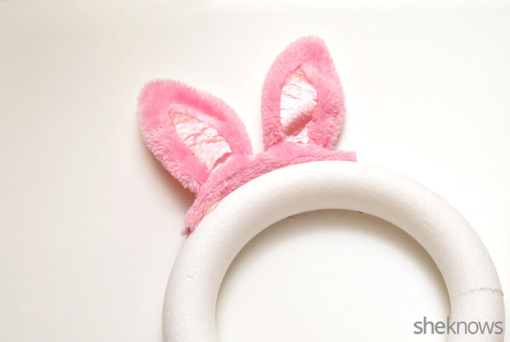 Bunny wreath step 3