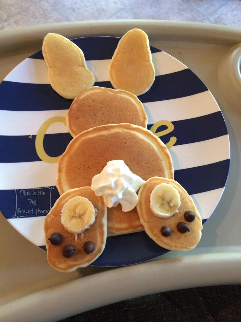 Bunny pancakes by This Little Pig Stayed Home