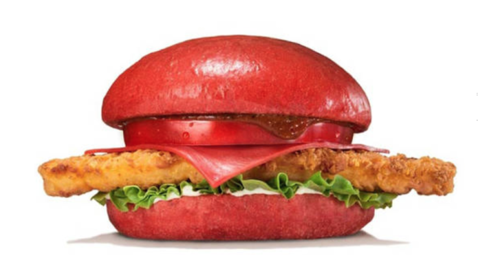 Burger King Japan's red burger is