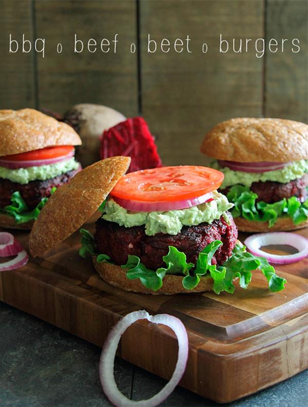 BBQ beef beet burgers