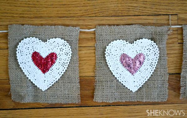 hearts on burlap
