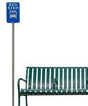 Bus stop with bench