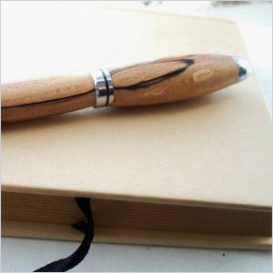 Hand-turned wooden business pen