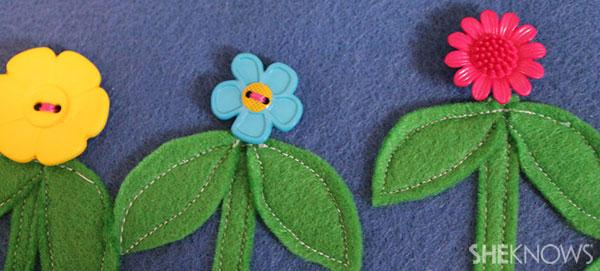 flower garden buttons