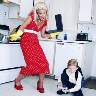 Busy Mom in Kitchen