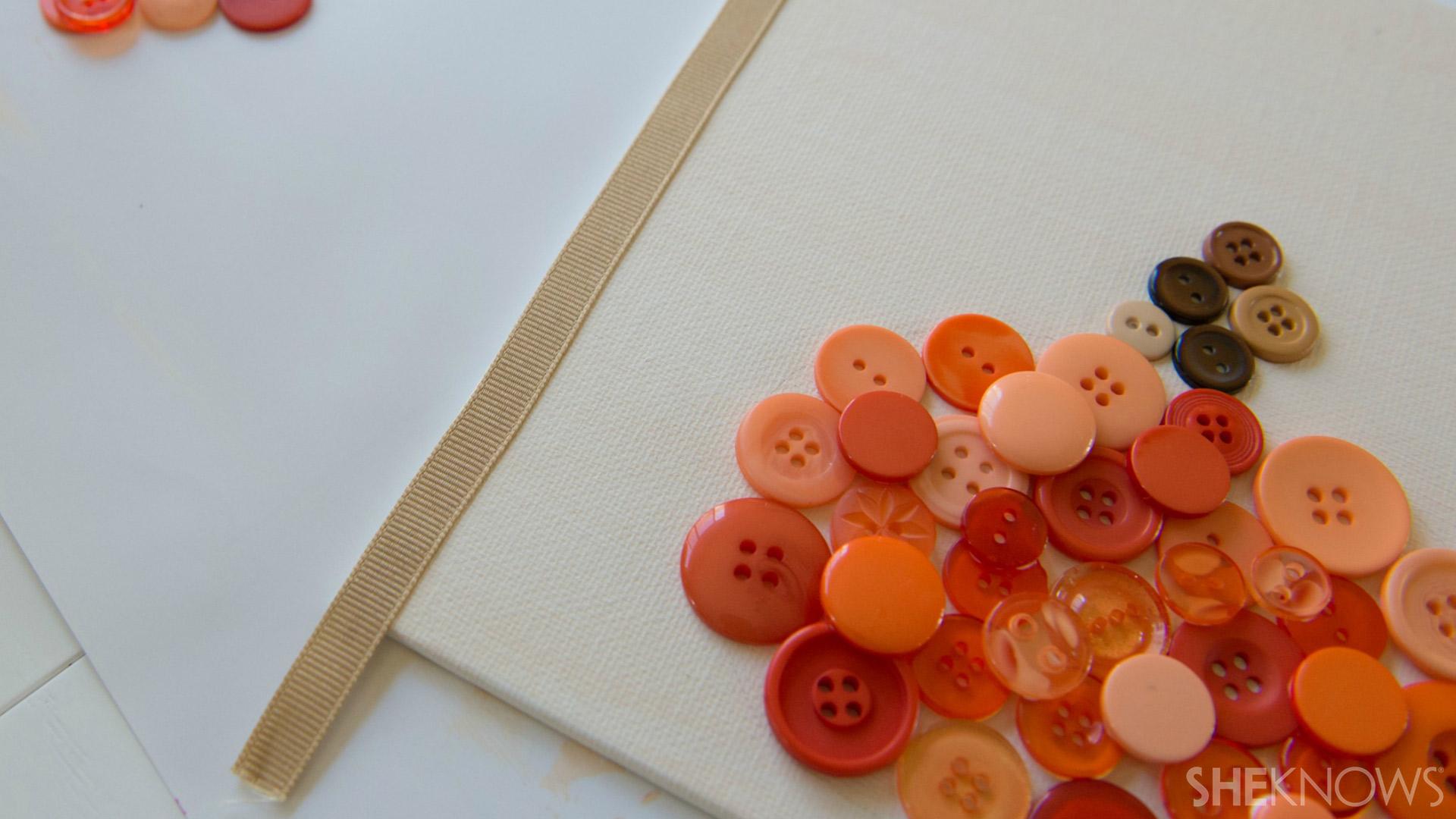 Button pumpkin | Sheknows.com - Attach ribbon