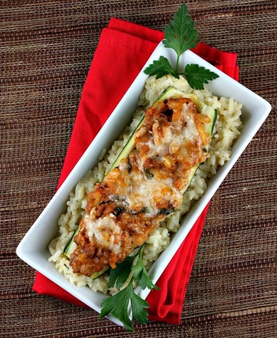 Recipe Girl stuffed zucchini boats