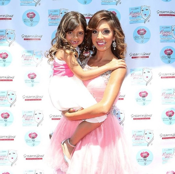 Teen Mom's Farrah Abraham and daughter Sophia at the Beauty Kitchen Junkie launch