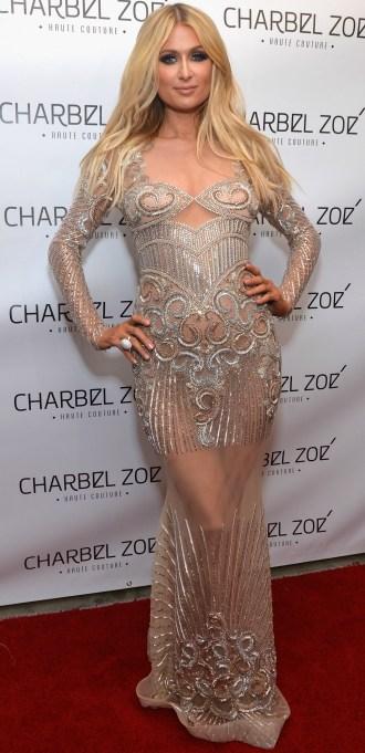 Paris Hilton naked dress