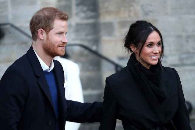 Meghan Markle and Prince Harry spotted on a walkabout at Cardiff Castle