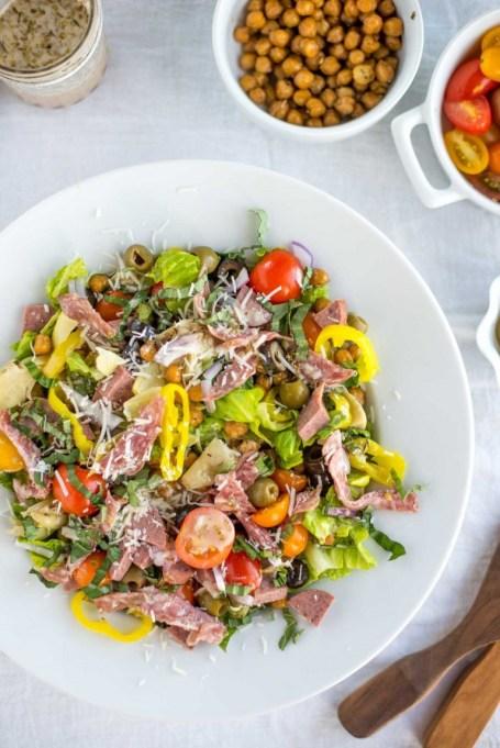 50 Easy Summer Salads: 30 Minute Italian Chopped Salad | Summer Eats