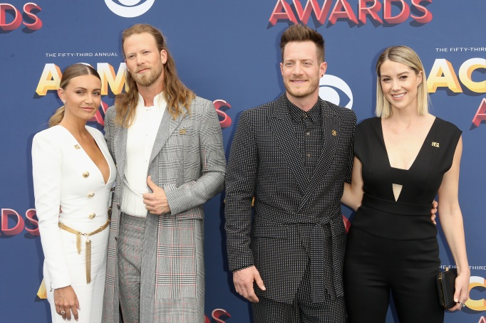 Brittney Marie Cole, Brian Kelley, Tyler Hubbard, Hayley Stommel at the 2018 ACMs