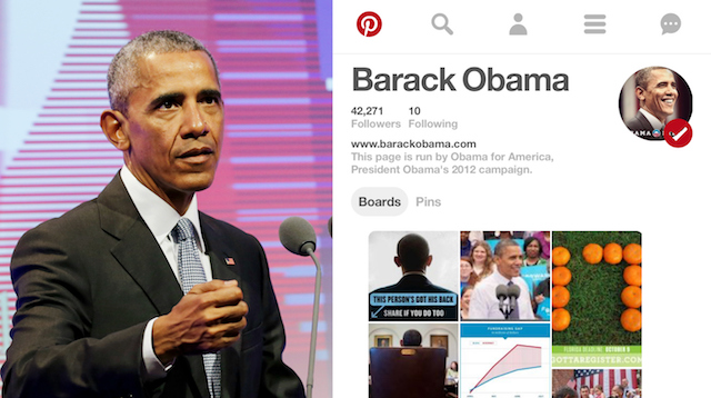 Celebs on Pinterest: Barack Obama