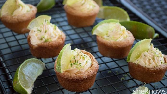 Mini key lime pie cookie cups: