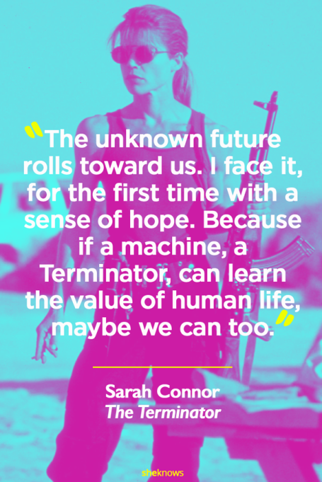 Sarah Connor 'The Terminator' movie quote