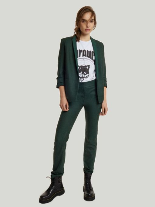 Modern Ways to Wear Blazers: Rowan Wool Blazer Forest | Fall Fashion 2017