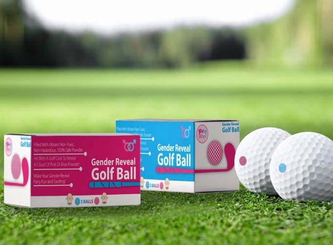 Gender Reveal Party Ideas You'll Actually Want to Copy: Exploding Golf Balls