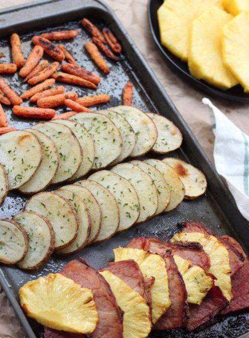 Pineapple Ham Sheet Pan