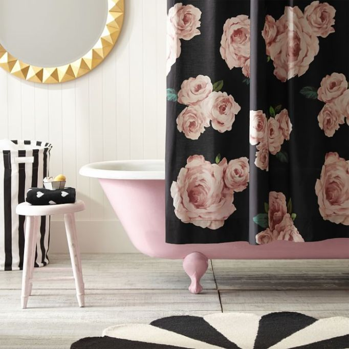 The Emily & Meritt Bed Of Roses Shower Curtain