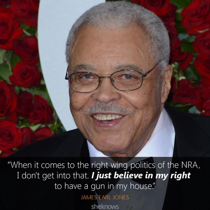 james earl jones gun control quote