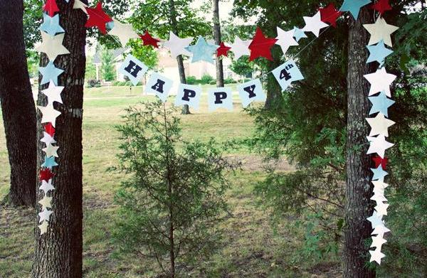 DIY Fourth of July banner