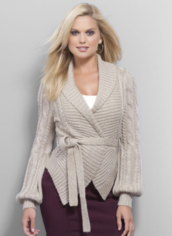 Cable Knit Belted Sweater ($90, nyandcompany.com)