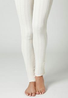 Cableknit leggings