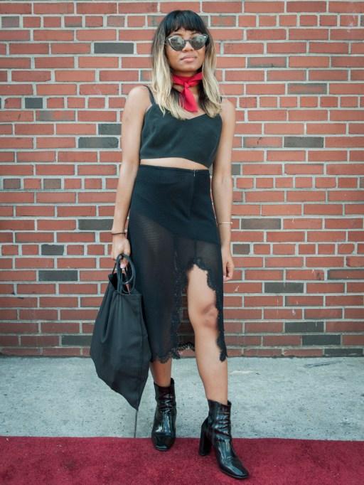 Fashion week street style crop top