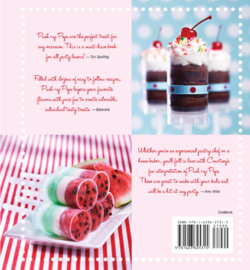 Push up Pops cookbook -- back cover