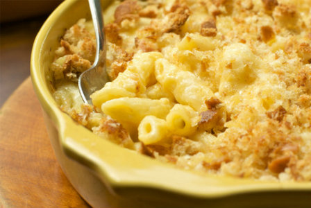Calcium-rich mac and cheese