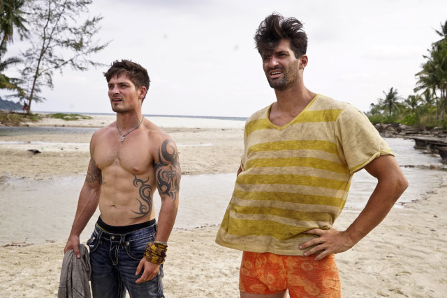 Caleb Reynolds and Nick Maiorano together at Beauty camp on Survivor: Kaoh Rong