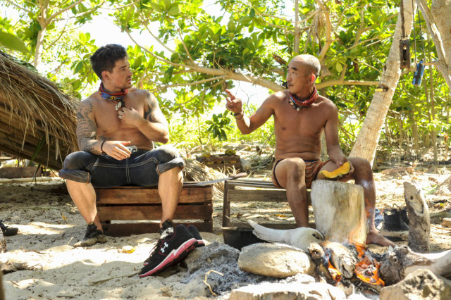 Caleb Reynolds talks with Tai Trang on Survivor: Game Changers