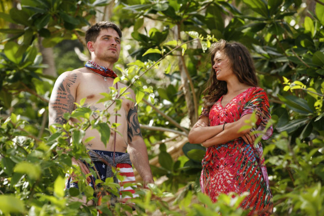 Caleb Reynolds with Hali Ford on Survivor: Game Changers