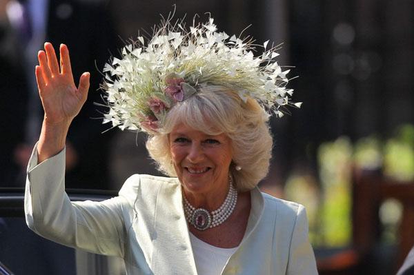 Camilla Parker-Bowles at Zara Phillips royal wedding