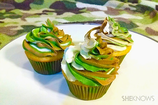 Camouflage Cupcakes SheKnows