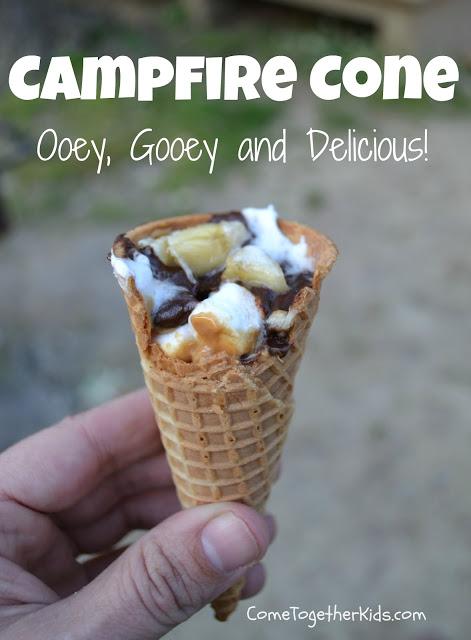 Campfire s'mores cones