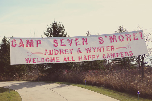A welcome banner