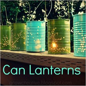Tin can latterns