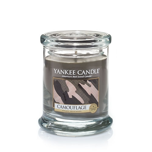 camouflage candle
