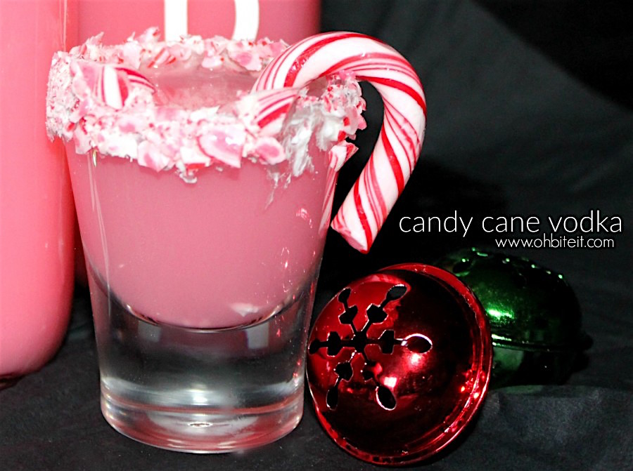 candy cane vodka shots