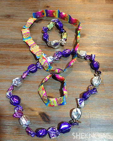finished candy necklaces