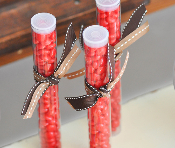 Candy tubes | Sock monkey themed party