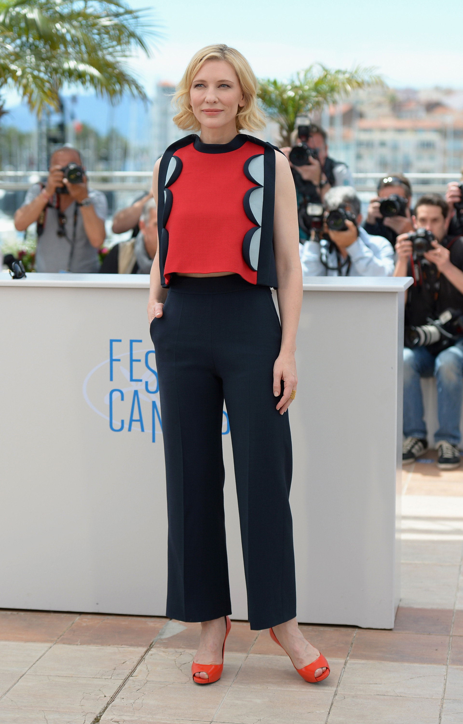 Cate Blanchett at the Cannes FIlm Festival wearing a Delpozo Fall 2014
