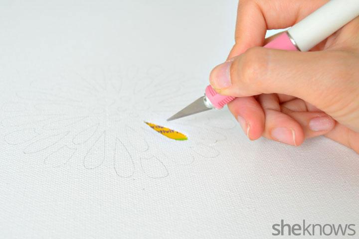 DIY canvas wall art