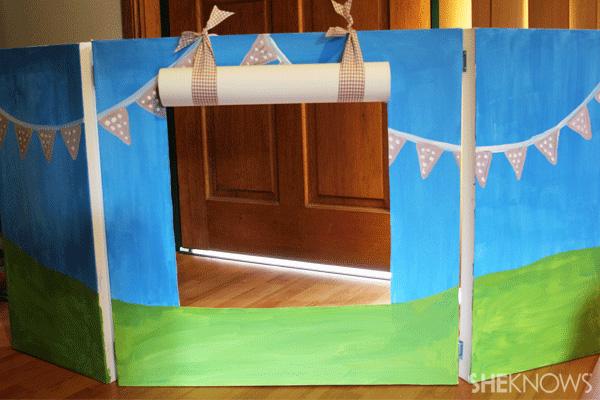 canvas puppet theatre