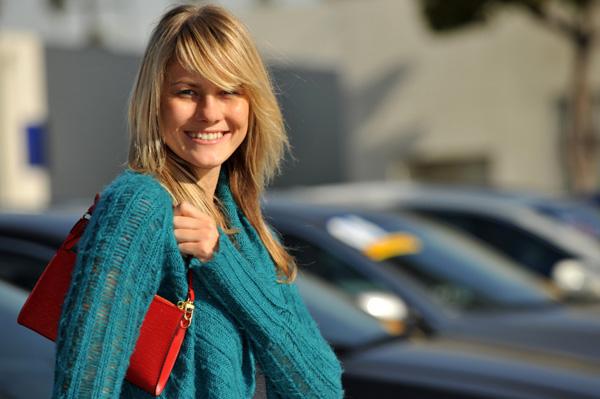 Car Shopping Woman