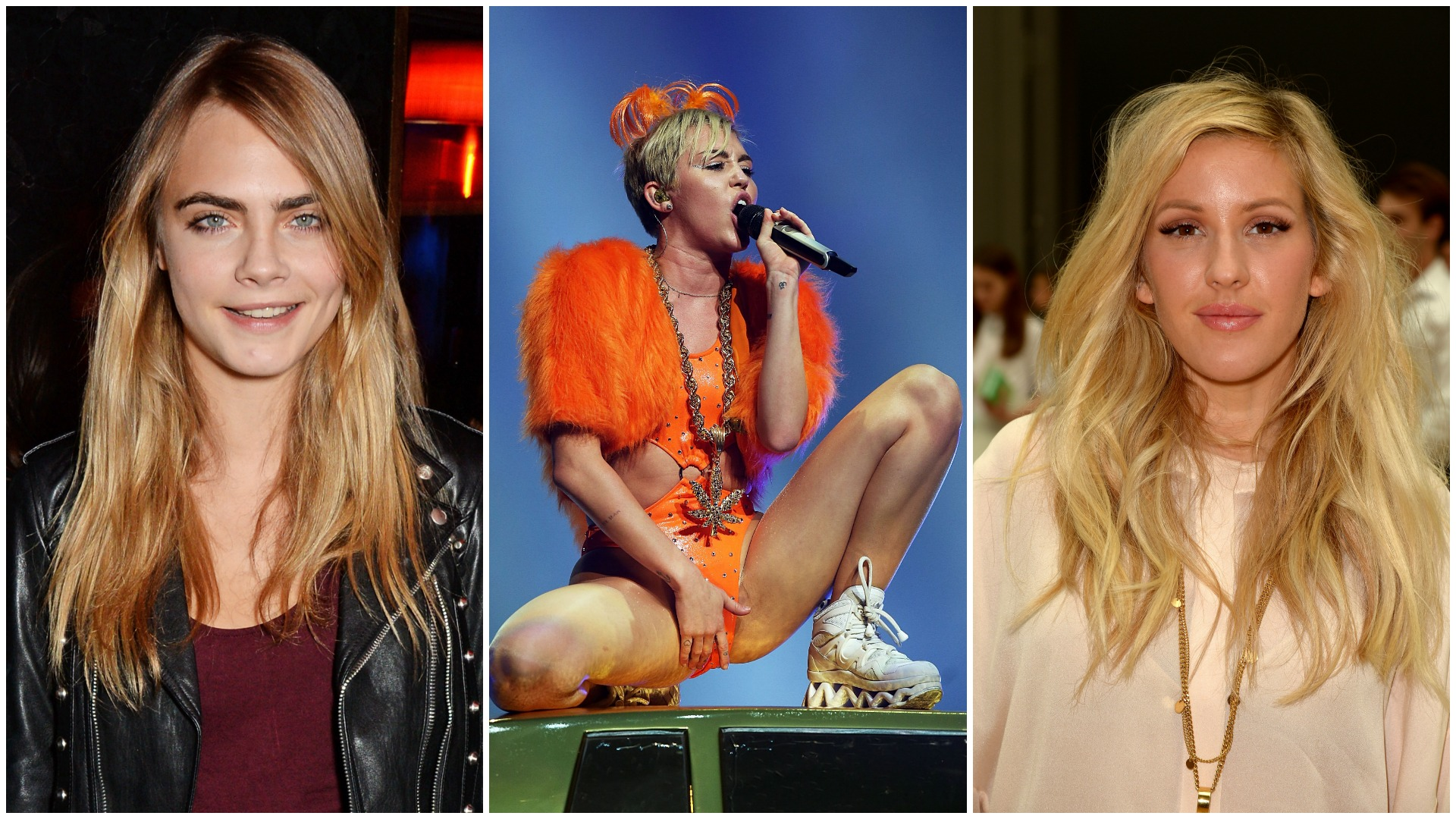 Cara Delevingne Miley Cyrus and Ellie Goulding are #feelingnuts