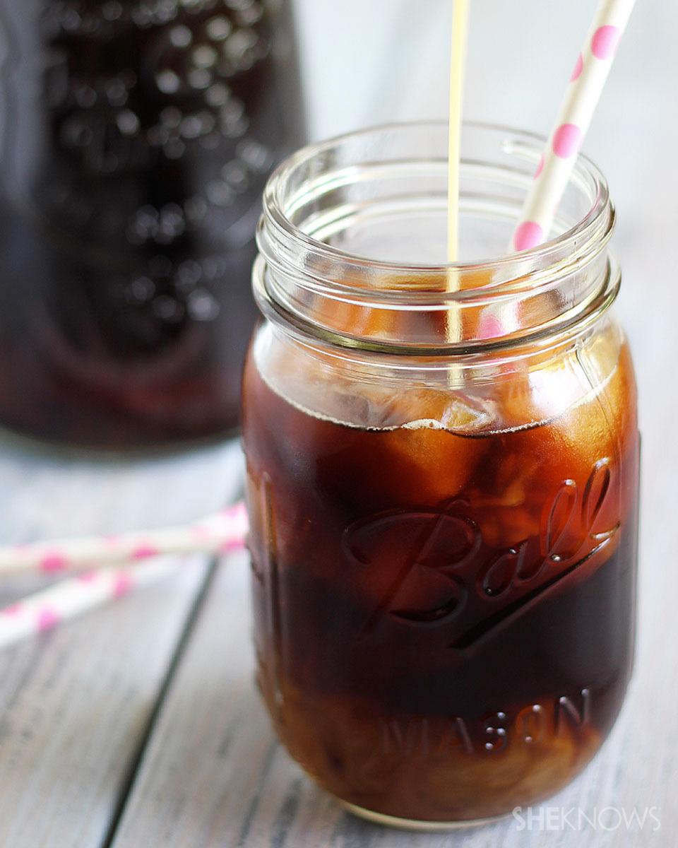 Iced Coffee with Homemade Coconut Caramel Creamer