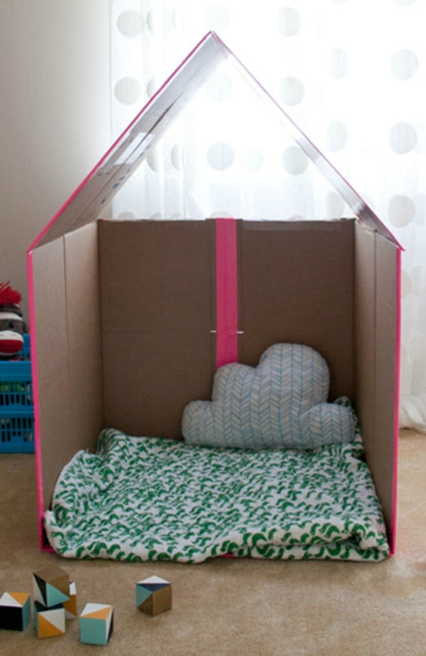 Excellent Turn A Plain Cardboard Box Into A Super Cool Playhouse With This Wiring Database Ioscogelartorg